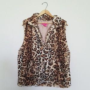 Betsey Johnson Leopard Vest